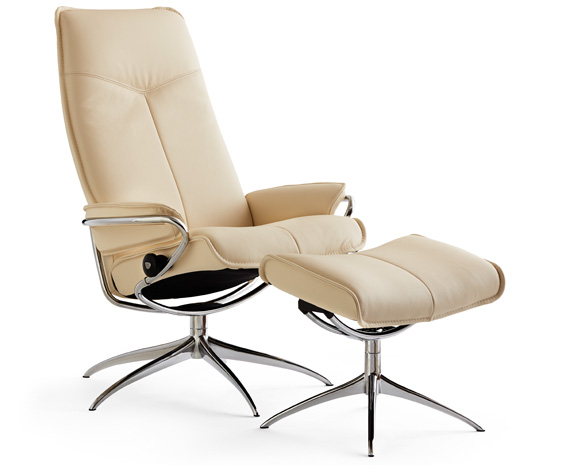 Stressless City chair high back whigh base